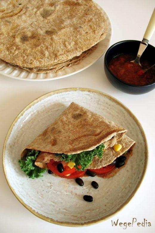 Placki roti - pszenne tortille z batatami - przepis 2-składnikowy