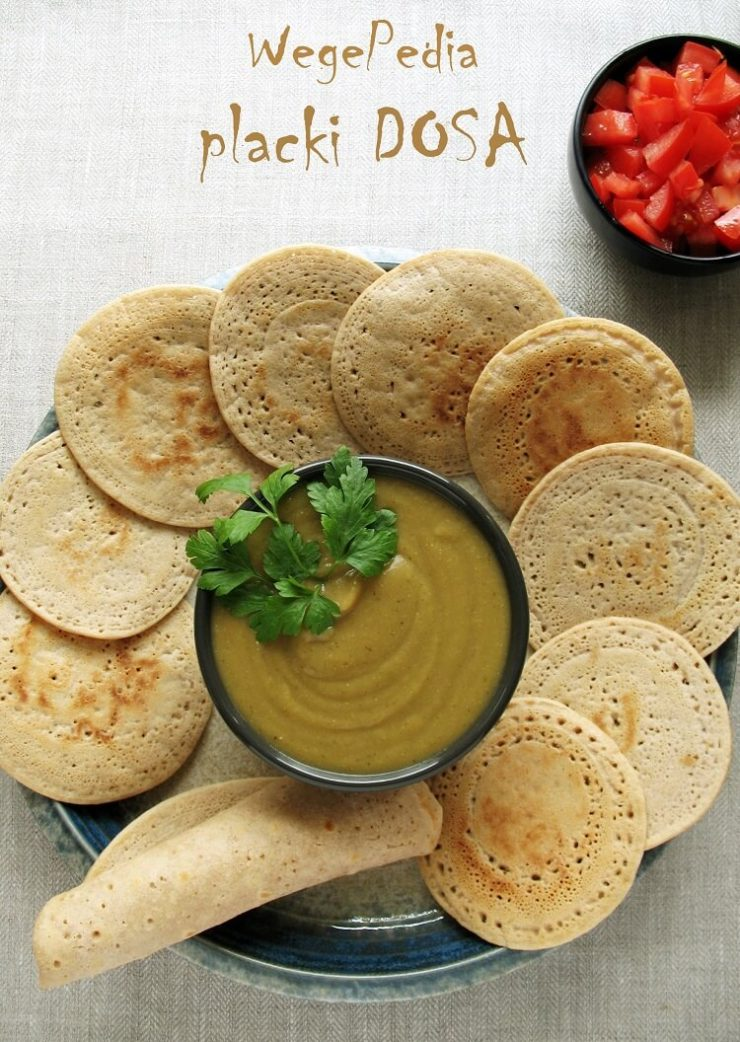 Indyjskie placki dosa z ryżu i soczewicy - prosty przepis
