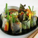 SPRING ROLLS wegańskie + azjatycki sos domaczania
