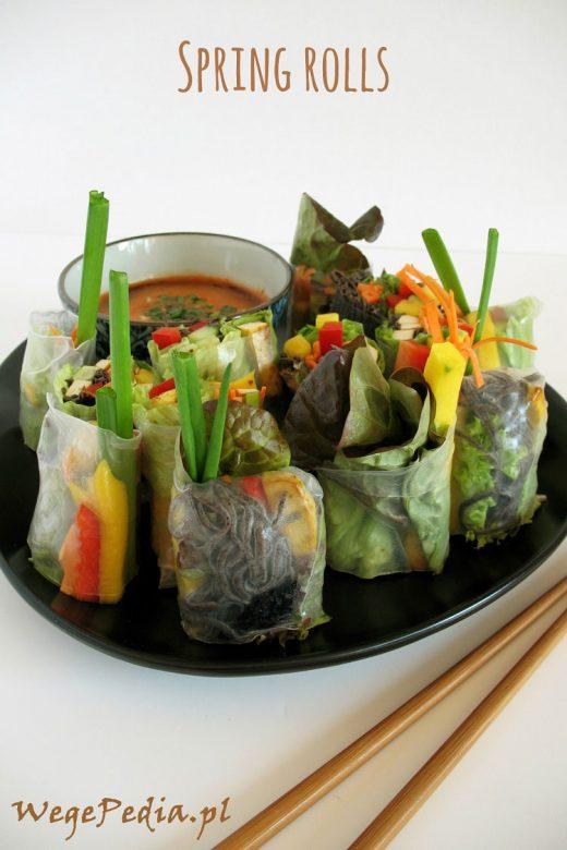 spring rolls wege - przepis z mango i awokado