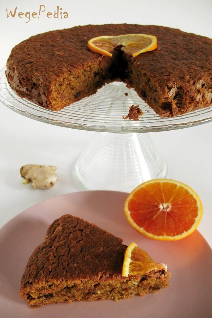 Wegańskie ciasto marchewkowe bez cukru i jajek - dietetyczne