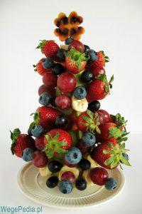 Choinka z owoców krok po kroku