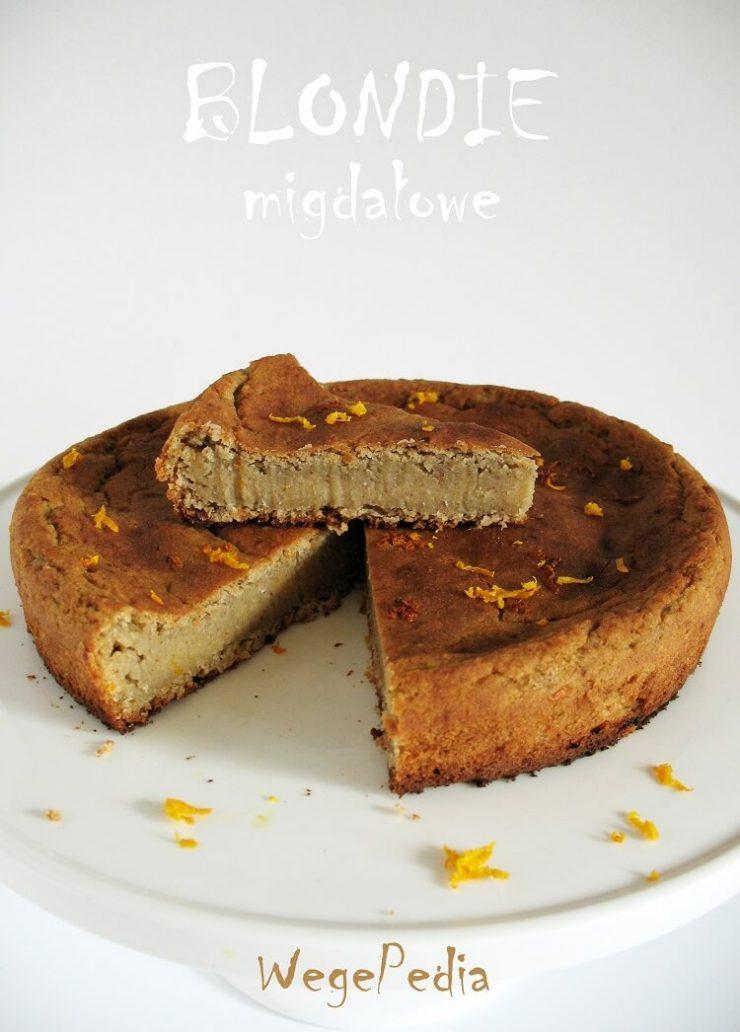 Ciasto z białej fasoli i banana - wegańskie blondie migdałowe