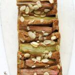 Fit ciasto zrabarbarem ijabłkiem, proste, wegańskie