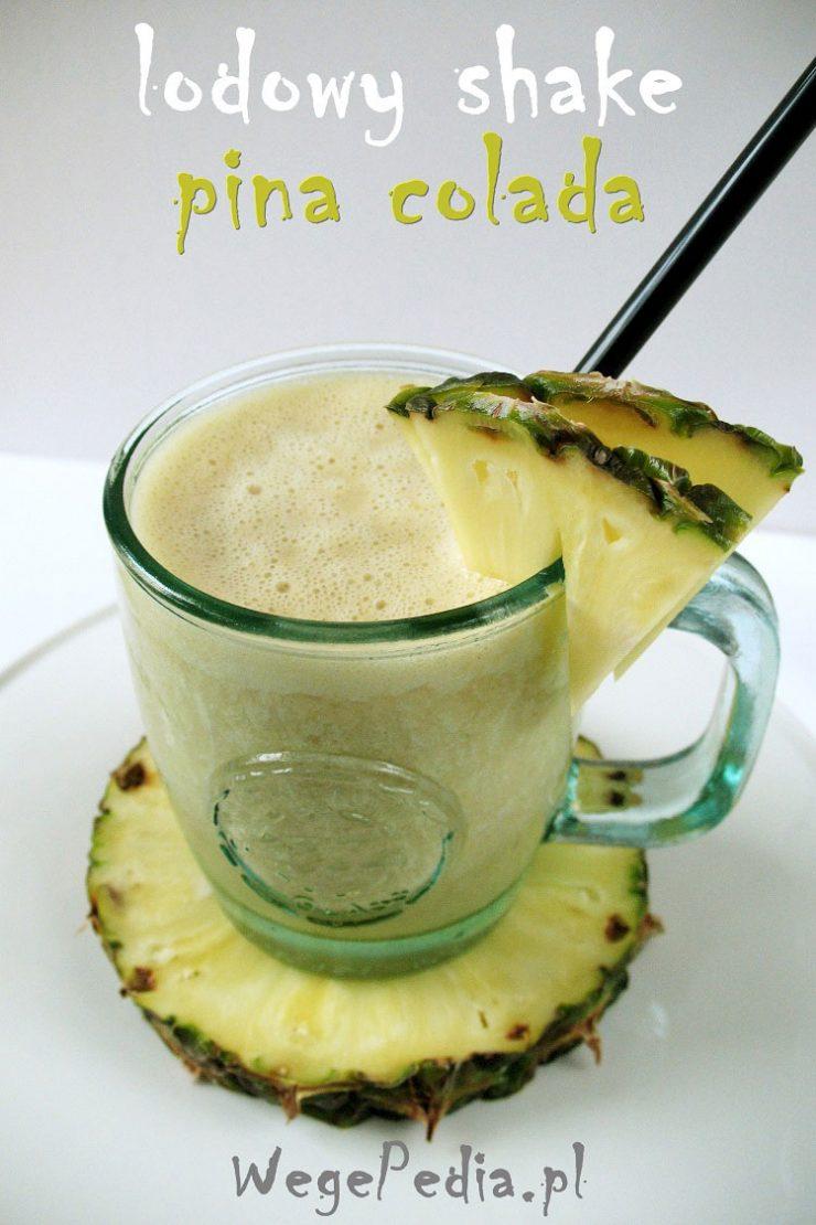Wegańskie smoothie pina colada fit - koktajl z ananasem