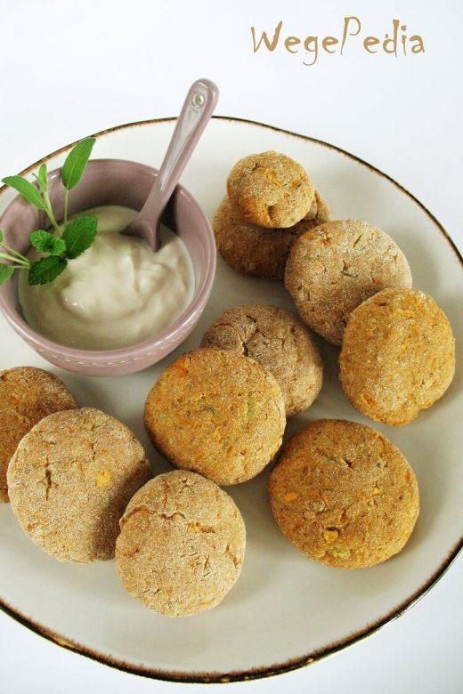 Pieczone placki z batatów i ziemniaków fit - wegańskie