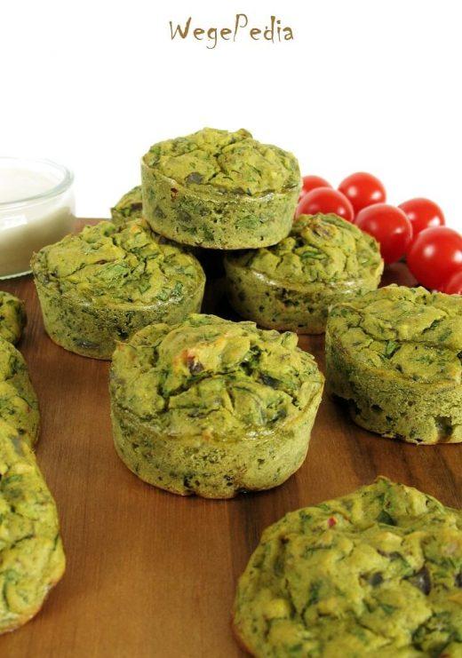 Wytrawne muffiny ze szpinakiem - indyjskie, bezglutenowe, fit