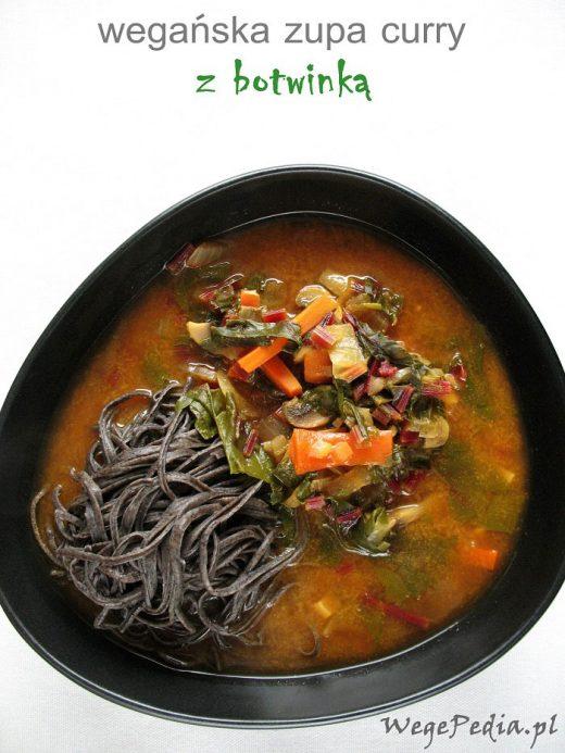 zupa curry z botwinką
