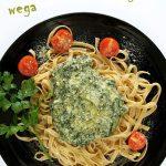 Szpinak wsosie śmietanowo-serowym – wegański ifit