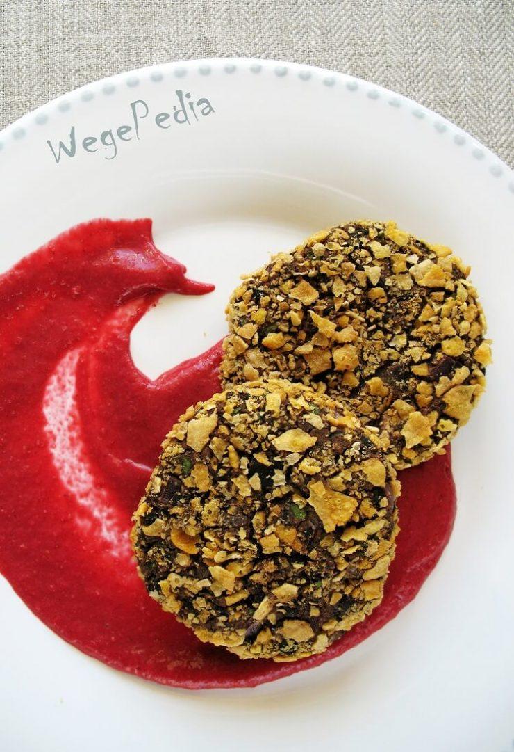 Wegańskie pieczone kotlety z czerwonej fasoli z puszki - szybki przepis