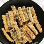 Frytki zcukinii fit – wegańskie, zpiekarnika
