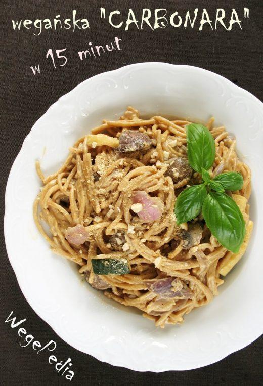Wegańskie spaghetti carbonara fit - prosty i najlepszy przepis