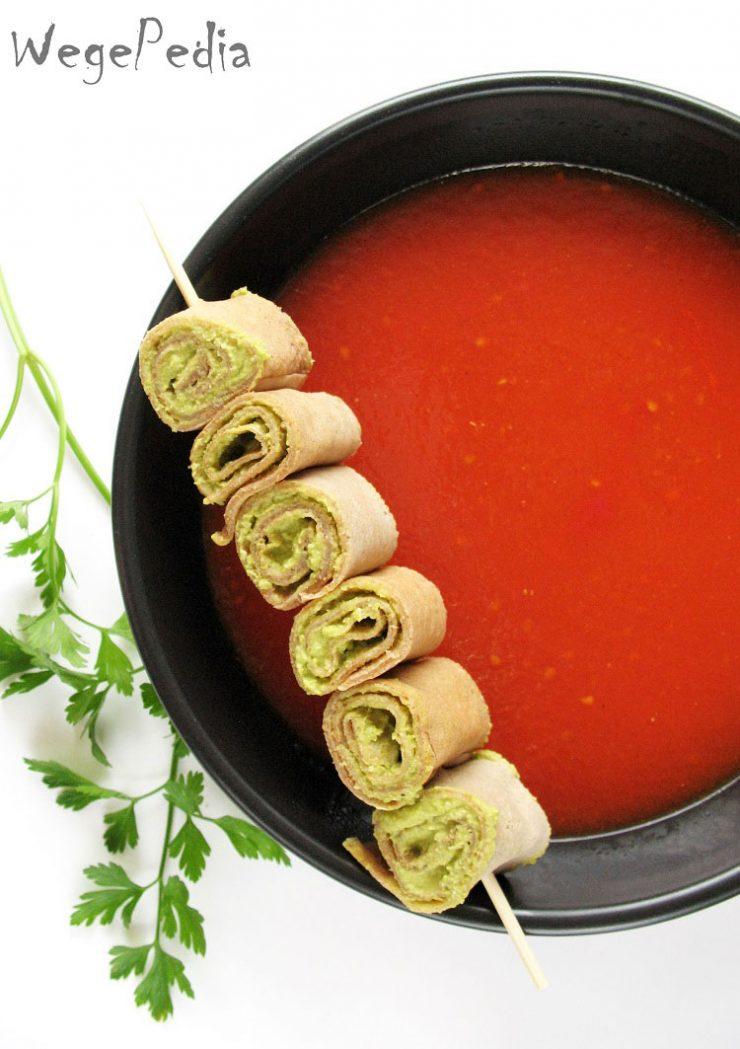 Wegańska zupa pomidorowa krem z pomidorów
