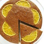Wegańskie ciasto migdałowe zpomarańczą – bezcukru, fit