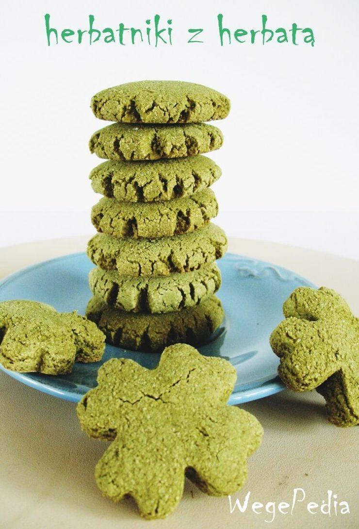 Wegańskie herbatniki z herbatą zieloną - bezglutenowe, fit