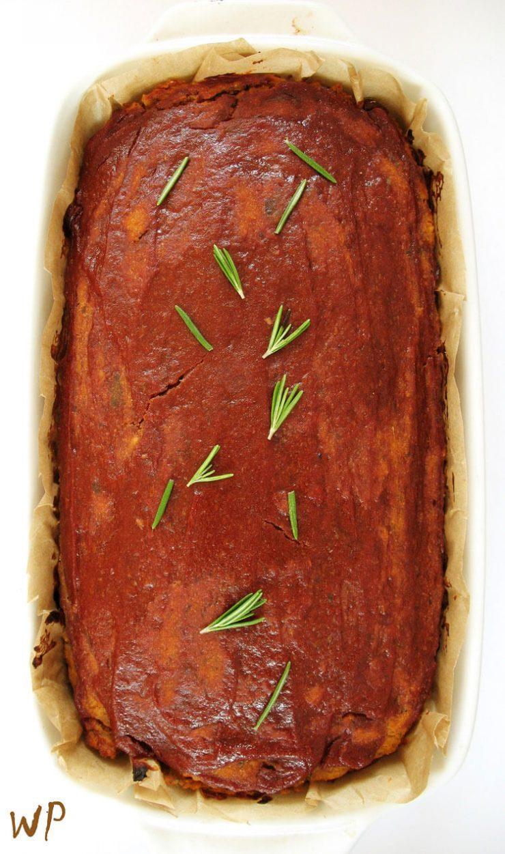 Pasztet warzywny fit pieczeń wegańska
