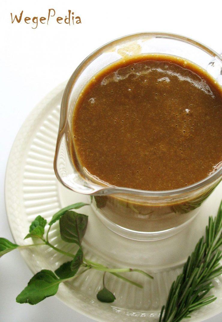 Wegański sos pieczeniowy fit - najlepszy przepis