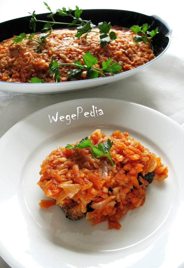 Wegańska ryba z tofu po grecku - pieczona lub nie