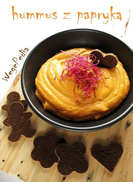 Hummus z papryką pieczoną lub świeżą - przepis fit