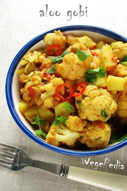 Kalafior z ziemniakami po indyjsku - aloo gobi
