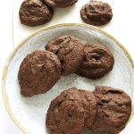 Zdrowe ciastka czekoladowe fit zbananami, wegańskie, proste