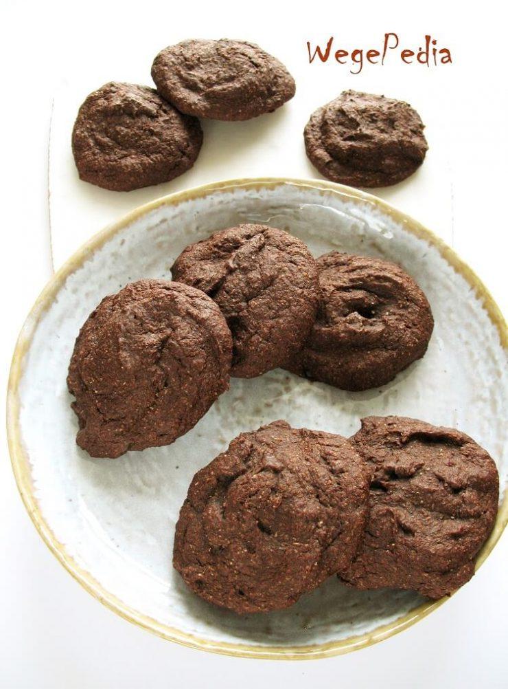 Zdrowe ciastka czekoladowe fit z bananami, wegańskie, proste