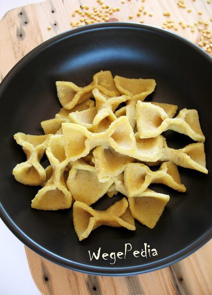 2-składnik. domowy makaron bezglutenowy z soczewicy przepis bez jajek