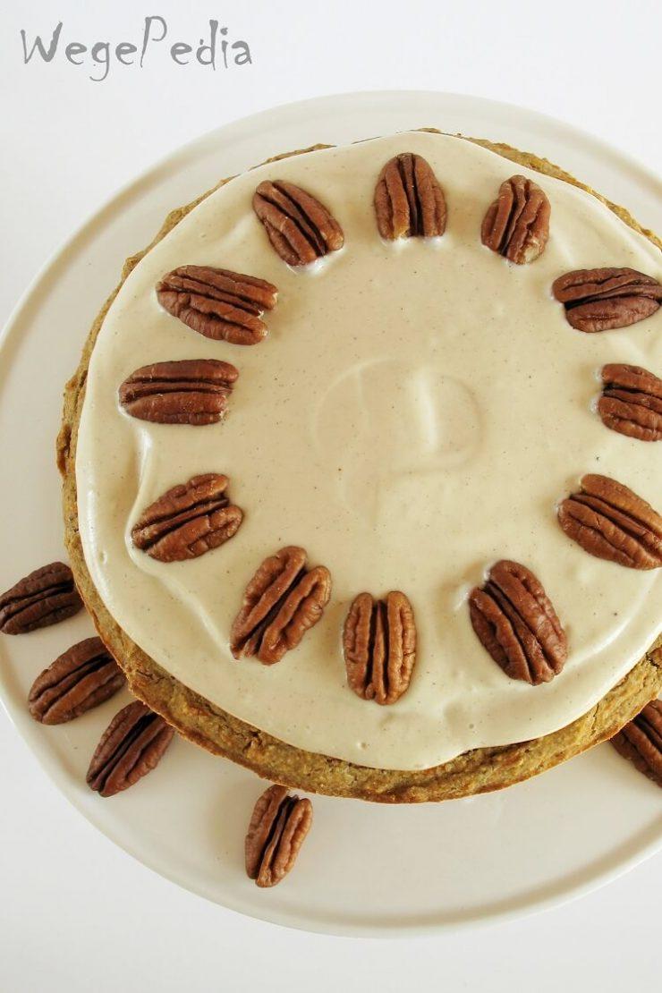 Wegańskie ciasto marchewkowe fit bezglutenowe z jabłkami - proste