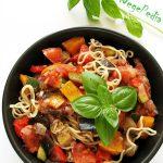 RATATOUILLE / ratatuj – gulasz warzywny fit zmakaronem