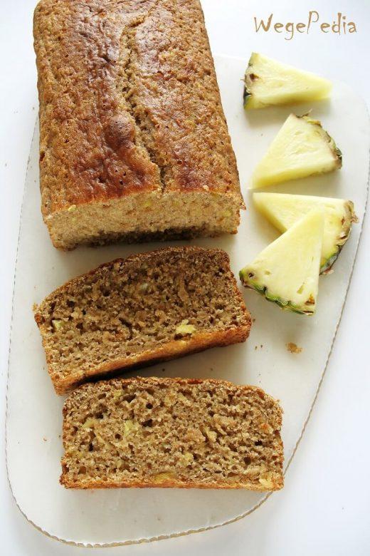 Łatwe wegańskie ciasto z ananasem - fit - bez jajek i cukru