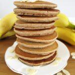 Fit placki bananowe zjagodami – bezjajek, wegańskie