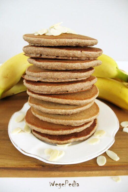 Fit placki bananowe, pancakes bez jajek, bez cukru
