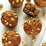 Muffiny dyniowe fit zorzechami – wegańskie, bezcukru ioleju