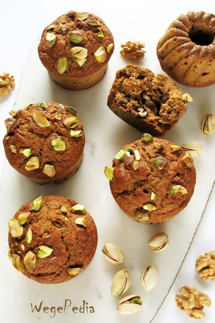 Muffiny dyniowe fit z orzechami - wegańskie, bez cukru i oleju