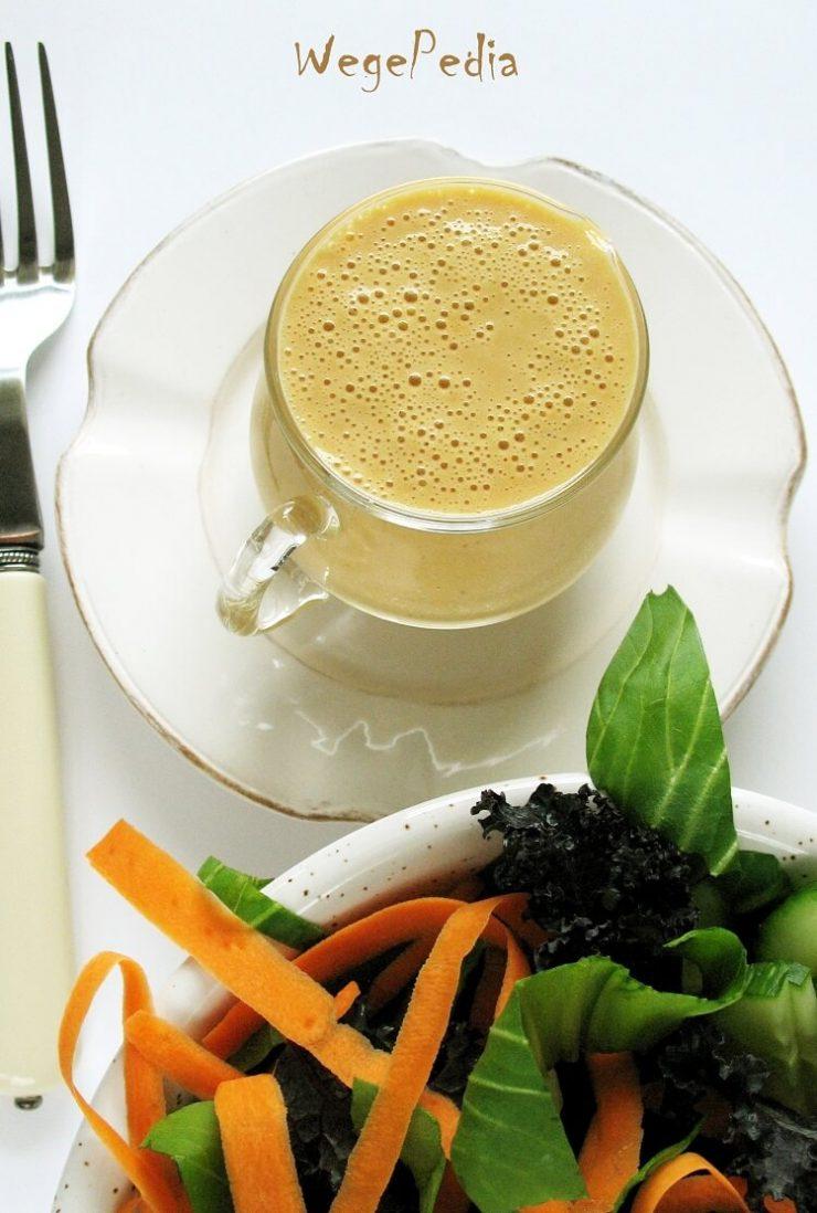 Pomarańczowy dressing do sałaty bez oliwy i cukru, wegański