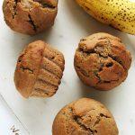 Wegańskie babeczki bananowe zorzechami – fit przepis bezcukru