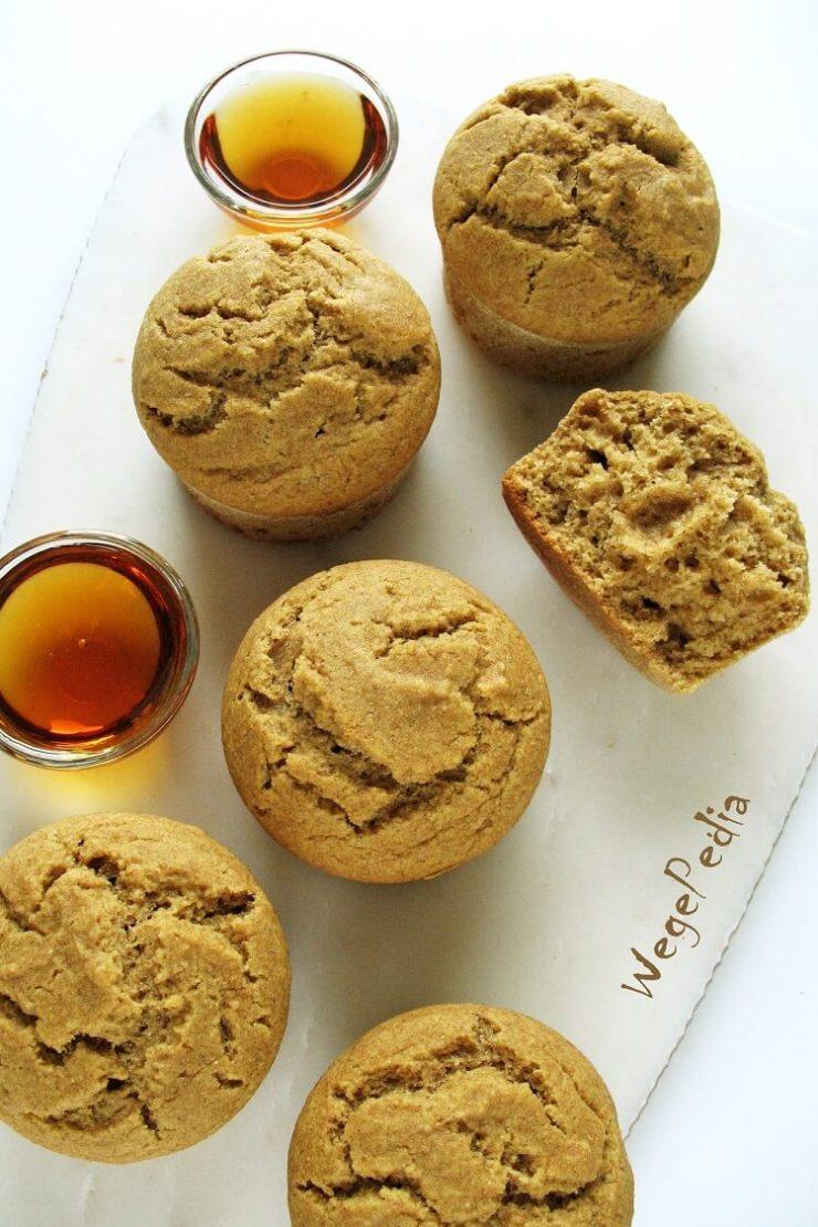 Fit muffiny z mąki kukurydzianej - wegańskie, bez oleju