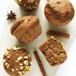 Bananowe muffiny piernikowe fit – wegańskie, bezcukru ioleju