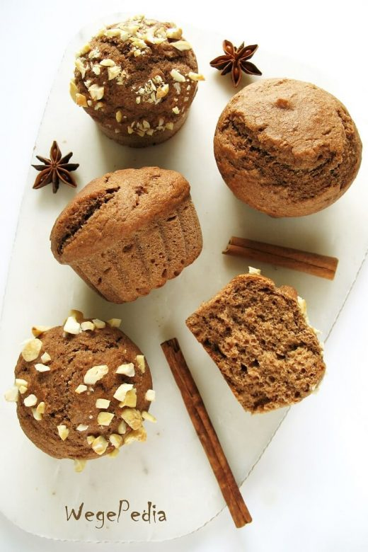 Bananowe muffiny piernikowe fit - bez cukru i oleju, wegańskie
