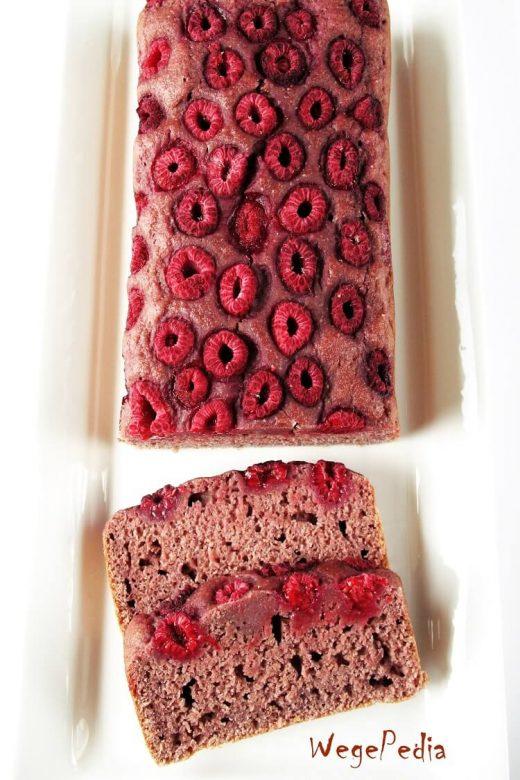Fit ciasto z malinami - wegańskie, bez cukru, proste