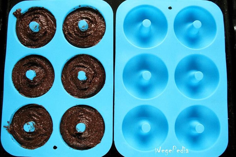 Wegańskie fit donuty czekoladowe zkakao przedupieczeniem
