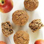 Fit muffiny zjabłkami icynamonem, wegańskie, bezcukru
