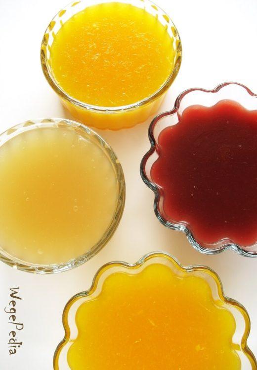 Domowy kisiel z soku owocowego bez cukru, fit, łatwy