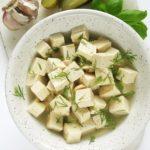 Tofu feta, tofu wzalewie pokiszonych ogórkach