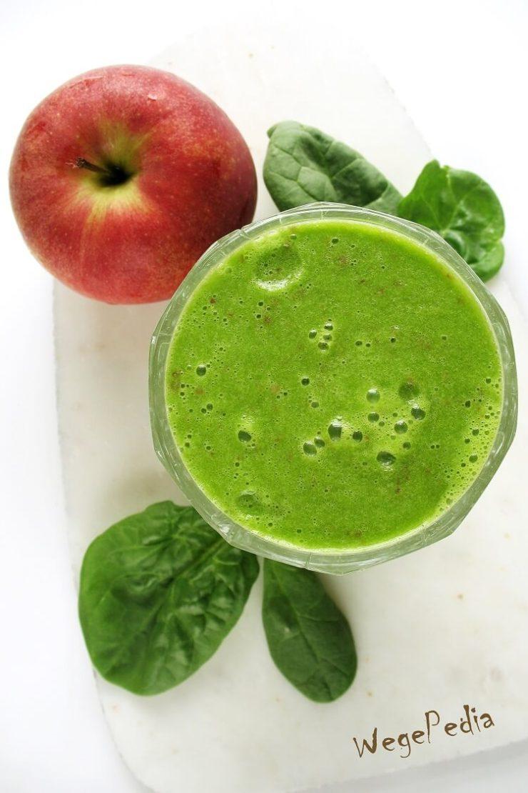 Zielone smoothie ze szpinakiem i jabłkiem lub winogronami