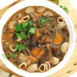 Zupa grzybowa fit ześwieżych grzybów, wegańska