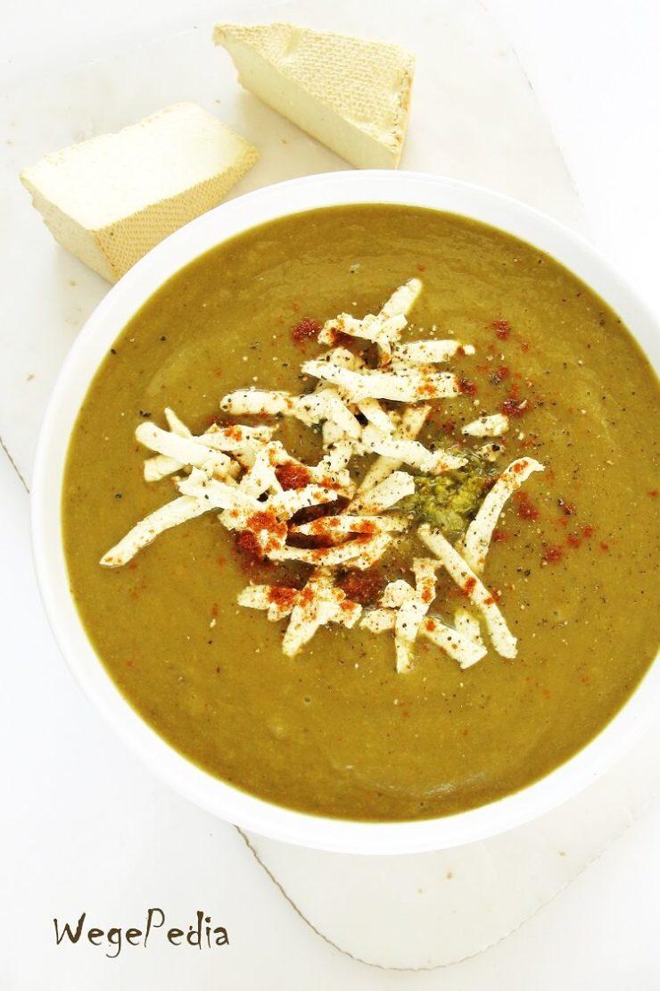Brokułowa zupa krem, serowa, fit, wegańska