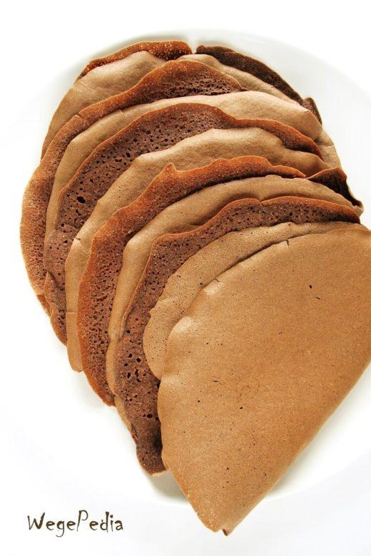 Naleśniki czekoladowe / kakaowe, wegańskie, fit