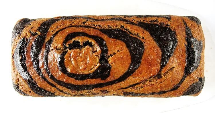 Fit zebra, wegańskie ciasto pomarańczowo-czekoladowe