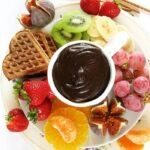 Fit FONDUE czekoladowe zowocami, nazimno, wegańskie